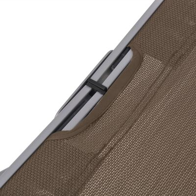 vidaXL Ligbedden inklapbaar 2 st textileen taupe