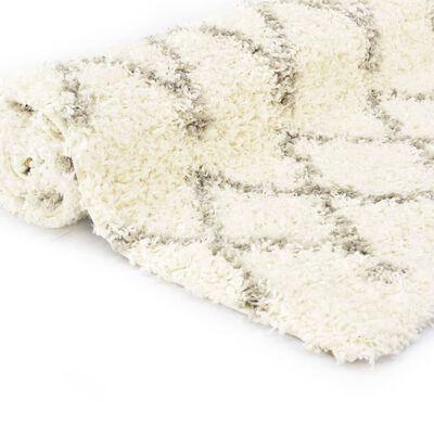 vidaXL Tapijt Berber shaggy hoogpolig 120x170 cm PP beige zandkleurig