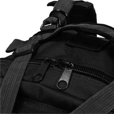 vidaXL Rugzak legerstijl 50 L zwart