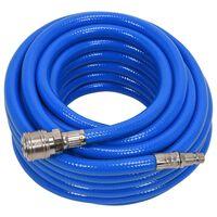 YATO Luchtslang met koppeling PVC 8 mm x 10 m blauw