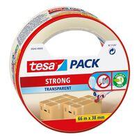 3x Tesa verpakkingstape transparant 66 mtr x 38 mm - Klusmateriaal -