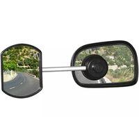 Defa caravanspiegel met zuignap vlak 11 cm zwart