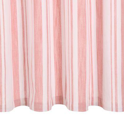 vidaXL Gordijnen met metalen ringen 2 st 140x245 cm katoen roze streep