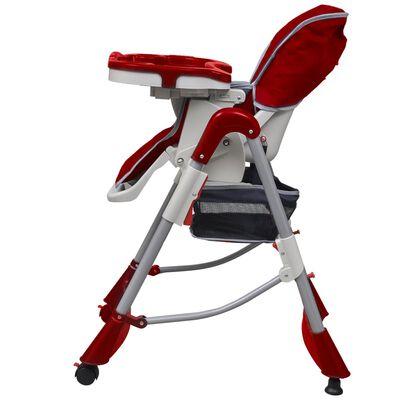 vidaXL Kinderstoel Deluxe in hoogte verstelbaar bordeauxrood