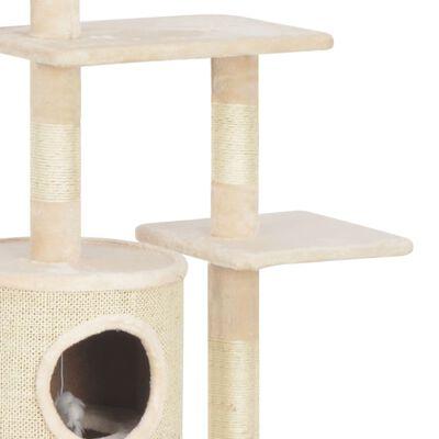 vidaXL Kattenkrabpaal met sisal krabpalen 260 cm beige