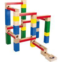 Small foot - Zelf bouw knikkerbaan - 54 onderdelen - Houten speelgoed