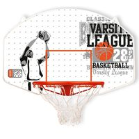 New Port Basketbal achterpaneel met ring glasvezel 16NY-WGO-Uni