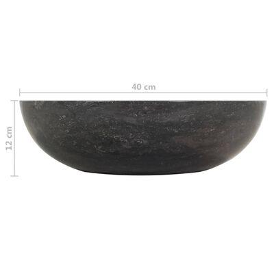vidaXL Wastafelkast met marmeren wastafels massief teakhout zwart