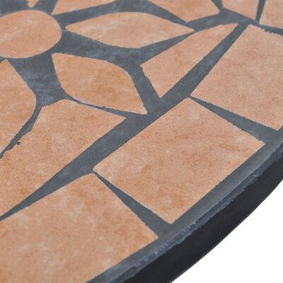 vidaXL 3-delige Bistroset keramische tegel terracotta