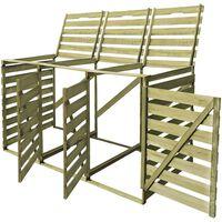 vidaXL Containerberging driedubbel 240 L geïmpregneerd hout
