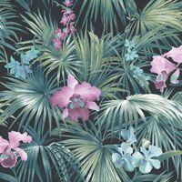 Noordwand Behang Tropical Flowers groen