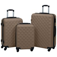 vidaXL 3-delige Harde kofferset ABS bruin