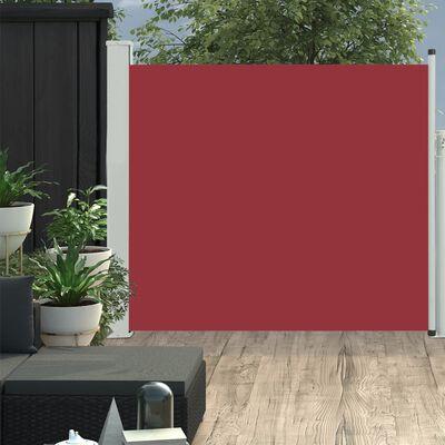 vidaXL Tuinscherm uittrekbaar 100x300 cm rood
