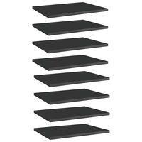 vidaXL Wandschappen 8 st 40x30x1,5 cm spaanplaat hoogglans zwart