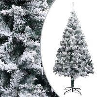 vidaXL Kunstkerstboom met sneeuwvlokken 180 cm PVC groen