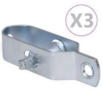vidaXL Draadspanners 3 st 100 mm staal zilverkleurig