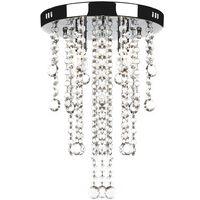 vidaXL Plafondlamp met kristalkralen metaal wit