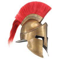 vidaXL Soldatenhelm Grieks replica LARP staal messingkleurig