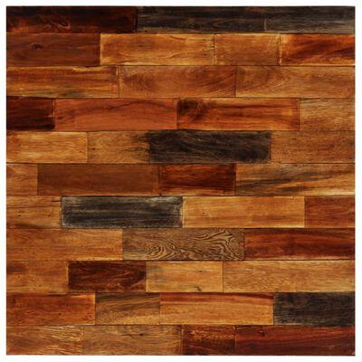 vidaXL 3-delige Barset massief gerecycled hout en echt geitenleer