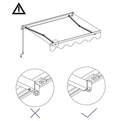 vidaXL Luifel automatisch uittrekbaar 450x300 cm antraciet