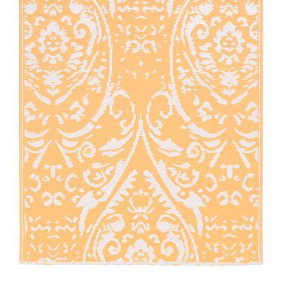vidaXL Buitenkleed  120x180 cm PP oranje en wit