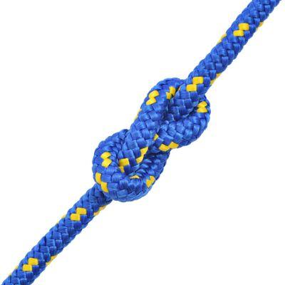vidaXL Boot touw 12 mm 250 m polypropyleen blauw