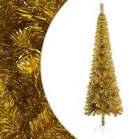 vidaXL Kerstboom smal 180 cm goudkleurig