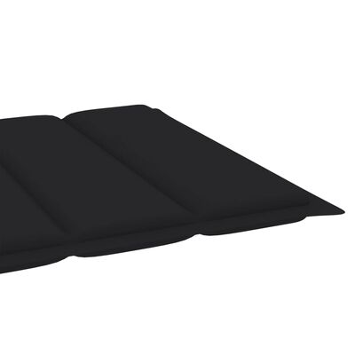 vidaXL Ligbedkussen 200x50x4 cm stof zwart