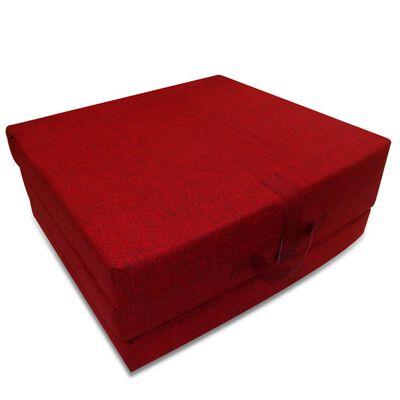 vidaXL Schuimmatras opklapbaar rood 190x70x9 cm