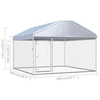 vidaXL Hondenkennel voor buiten met dak 200x200x135 cm