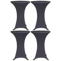 vidaXL Tafelhoes stretch 4 st 70 cm antraciet