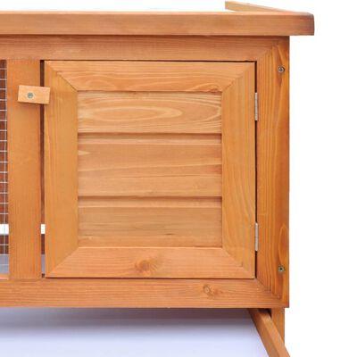 vidaXL Konijnenhok voor buiten met 1 verdieping hout
