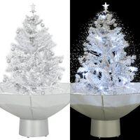 vidaXL Kerstboom sneeuwend met paraplubasis 75 cm wit