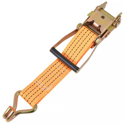 vidaXL Spanbanden 2 ton 8mx50mm oranje 4 st