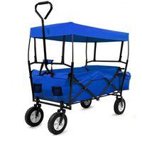 Monzana Bolderkar Bagagewagen opvouwbaar met dak blauw