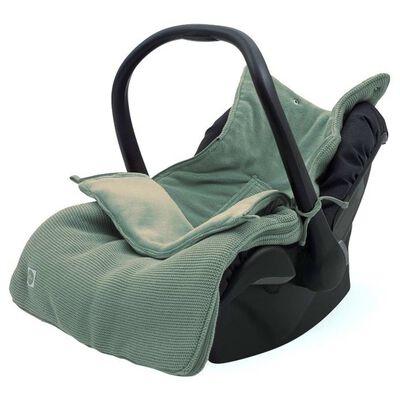Jollein Babyvoetenzak voor autostoel/loopwagen Basic Knit asgroen