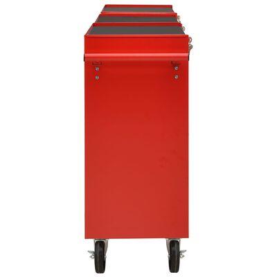 vidaXL Gereedschapswagen met 21 lades staal rood