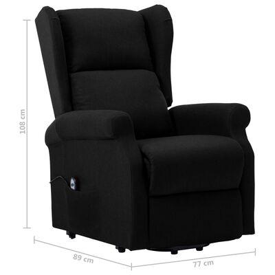 vidaXL Sta-op-stoel stof zwart