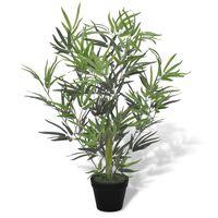 vidaXL Kunstboom met pot bamboe 80 cm