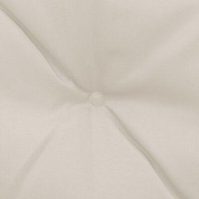vidaXL Schommelstoelkussens 2 st 50 cm stof crème
