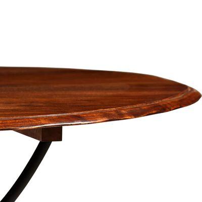 vidaXL Eettafel 120x76 cm massief hout met sheesham afwerking