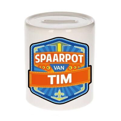 Kinder spaarpot voor Tim - keramiek - naam spaarpotten