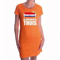 De koningin is thuis oranje jurk voor dames - Koningsdag / Woningsdag