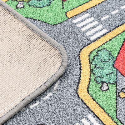 vidaXL Speeltapijt 80x120 cm lussenpool stadswegenpatroon