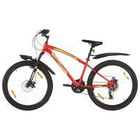 vidaXL Mountainbike 21 versnellingen 26 inch wielen 36 cm rood