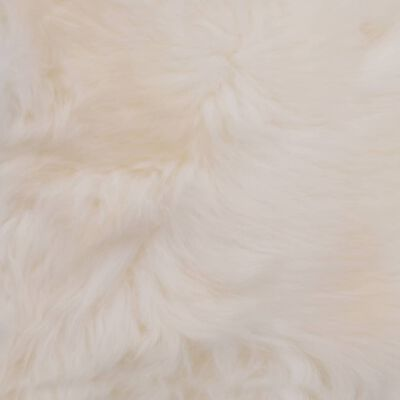 vidaXL Stoelkussens 2 st 40x40 cm echt schapenvacht wit