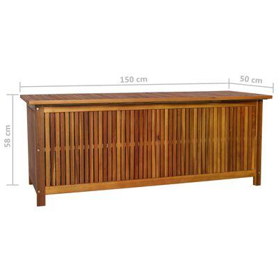 vidaXL Tuinbox 150x50x58 cm massief acaciahout