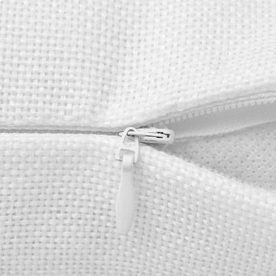 vidaXL Kussenhoezen 4 stuks linnen look wit 50x50 cm