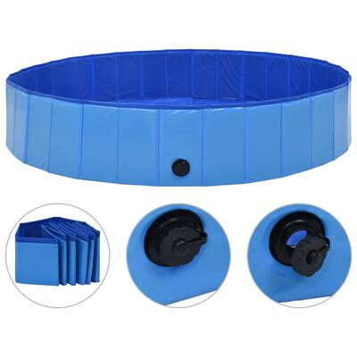vidaXL Hondenzwembad inklapbaar 160x30 cm PVC blauw