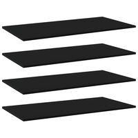 vidaXL Wandschappen 4 st 100x50x1,5 cm spaanplaat zwart